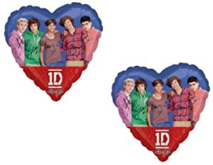 """ONE DIRECTION Pop Stars Niall Zayn Liam Harry Louis (2) 18"""" Party Mylar Balloons"""