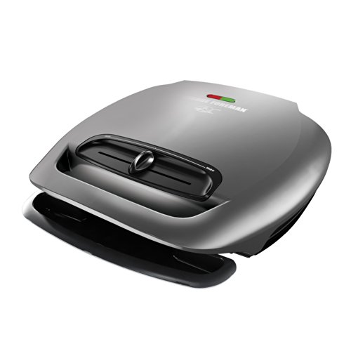 George Foreman GR2081HM 5-Serving Classic Plate Grill with Variable Temperature, Platinum (George Foreman 2 In 1 compare prices)