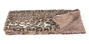 The Dog Squad Minkie Binkie Square Pet Blanket, 16.5 by 16.5-Inch, Dark Brown Leopard