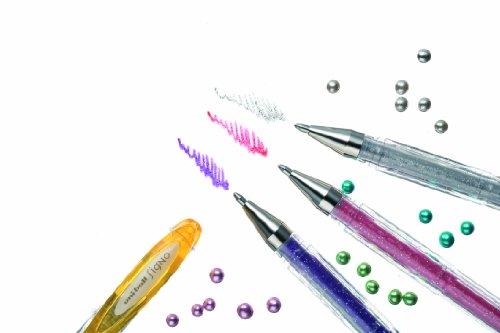 Uni-ball Signo - Bolígrafo roller de gel con purpurina (8 unidades), , color es variados