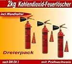 Dreierpack 2Kg Co� Feuerl�scher inkl....