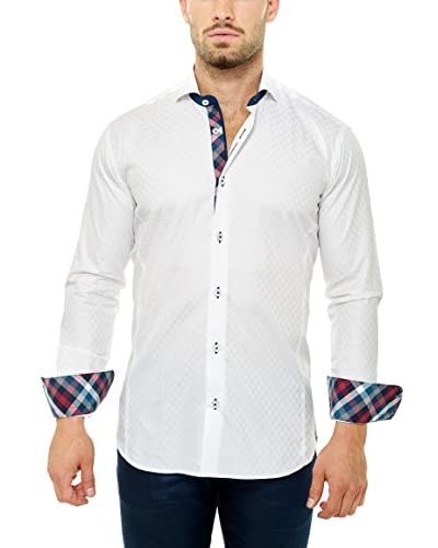 Maceoo Men's Wall Street Check Shirt