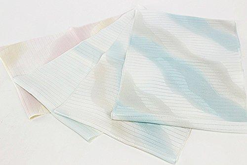 【アウトレット品】 (カトウマン) 加藤萬 謹製 夏用 正絹 帯揚げ 絽 みふじ 2.水色