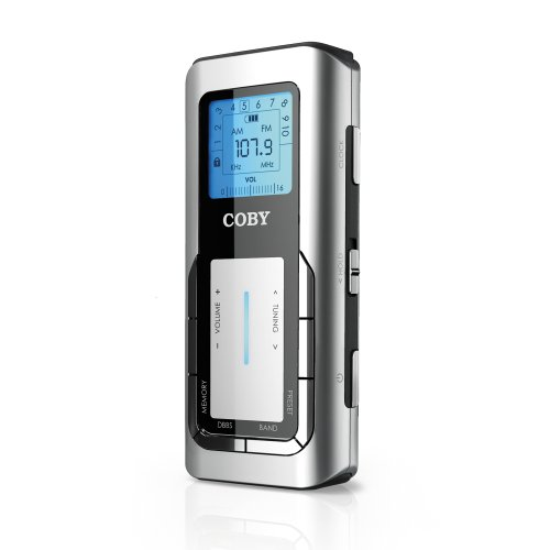Coby CX90SVR Digital Pocket AM/FM Radio (Sliver)