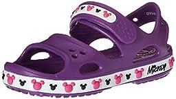 crocs Crocband II Mickey PS Sandal (Toddler/Little Kid), Amethyst, 4 M US Toddler
