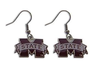 Buy Mississippi State Bulldogs Dangle Logo Earring Set Ncaa Charm Gift