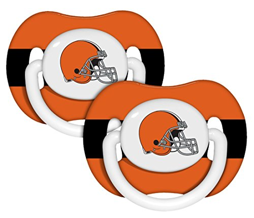 Baby Fanatic Nfl Cleveland Browns Baby Fanatic 2-Pack Pacifiers front-996284