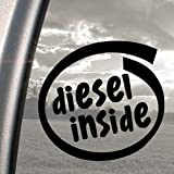 Diesel Inside Black Decal Car Truck Bumper Window Sticker