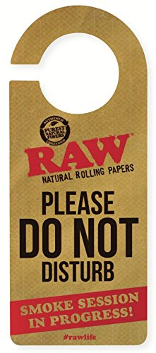 RAW Natural Rolling Papers - Do Not Disturb Door Sign (Raw Cone Package compare prices)