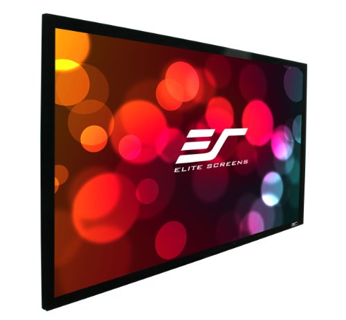 "Elite Screens 115 Inch 2:35:1 Sableframe Acoustically Transparent Fixed Projector Screen (45.1""Hx106""W)"