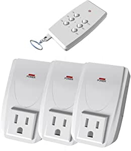 Stanley 31164 Indoor Wireless Remote Control with Single Transmitter, White, 3-Pack