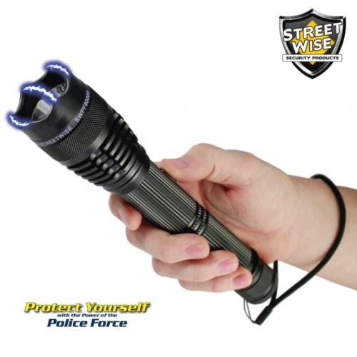 Streetwise Police Force 8,000,000 Stun Gun Led Flashlight & Holster