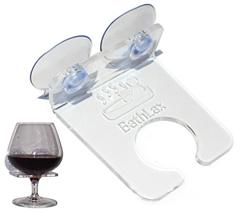 BathLax Bathtub Wine Glass Holder Caddy Bridal Shower Gifts Wedding Gift Ideas
