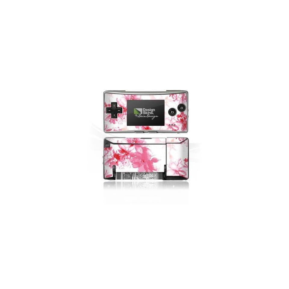 Design Skins für Nintendo Game Boy Micro   Blumen