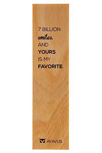 7 Billion Smiles and Yours Is My Favorite - Wooden Bookmark Minimalist Quotes Valentines Day Romance Gift Romantic Quote Heart Lovers Anniversary Gift