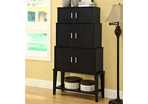 """CAPPUCCINO 55""""H STACKING STYLE STORAGE CABINET (SIZE: 31L X 12W X 55H)"""
