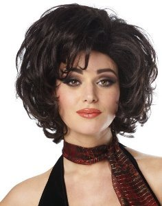 Gina Wig (black) Adult Halloween Costume Accessory