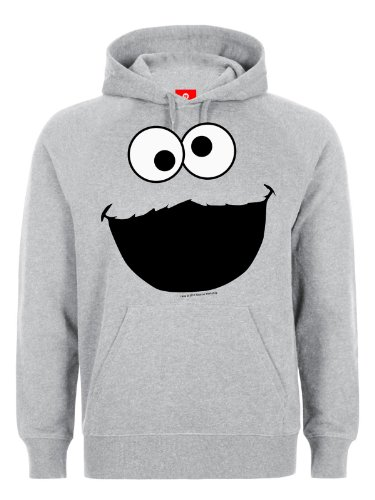Effetti sonori krümel Sesame Street Cookie Monster felpa con cappuccio di-shirt grigio grigio Medium