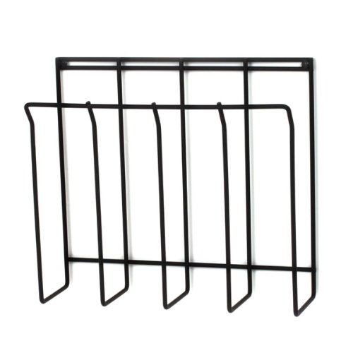 Spectrum 37710 Wall-Mount Magazine Rack, Black