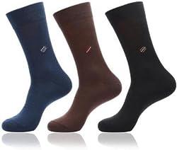 Alfa Mens Cotton Socks - Pack of 3 (Asstd. Color)