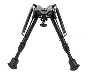 Harris Engineering 1A2-BR Hinged Base 6 - 9-Inch BiPod by Harris Engineering