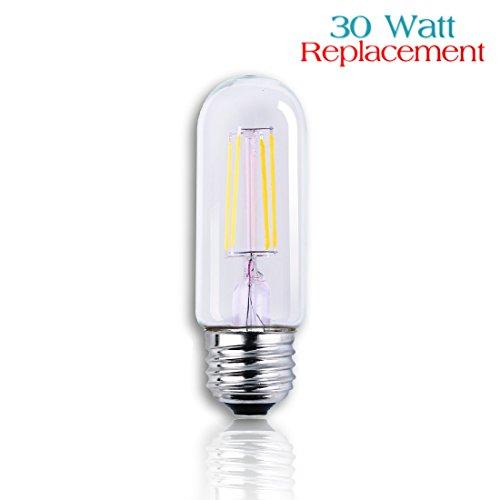 Luxrite LR21233 LED Filament T10 (Tube Shaped) Edison Style Light Bulb, 4-Watt Equivalent To 40w Incandescent T10 Light Bulb, Warm White 350 Lumens 2700K, 280° Beam spread degree, 15,000 Hour Life, E26 Medium Base, 1-Pack (Lightbulb Shaped Led compare prices)
