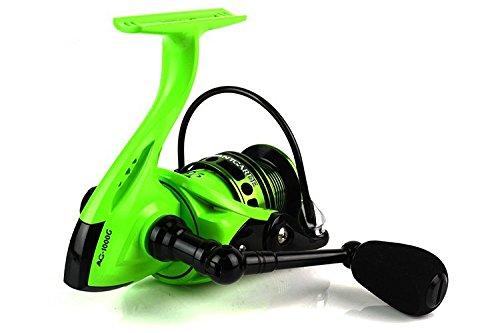 Japan Technology Feeder Fishing Aaag Spinning Reel Fishing Reels 6Bb+1Rb 5.1:1 Tackle Lure Front Drag Spinning Reel – Green