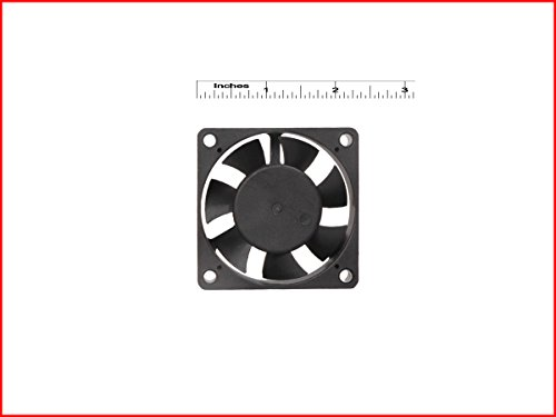 DC Small Axial Case Cooling Fan. SIZE : 2.40″ inches (6x6x2cm), (60x60x20mm), SUPPLY VOLTAGE : 12VDC, Material : Plastic P.B.T., Color : Black. MAA KU