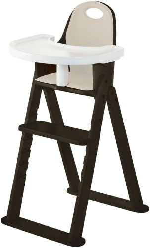 High Chair - Award Winning Svan Baby to Booster Bentwood Folding Chair with Removable Cushion and Harness (6 mos - 5 yrs) (Espresso) - 1