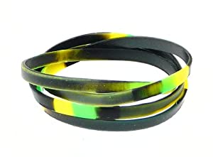 Neptune Giftware Set of 4 Boys Camouflage Rubber Bracelets - Not Suitable For Children Under 36 Months Old - (Max Wrist Size Approx. 16cm)