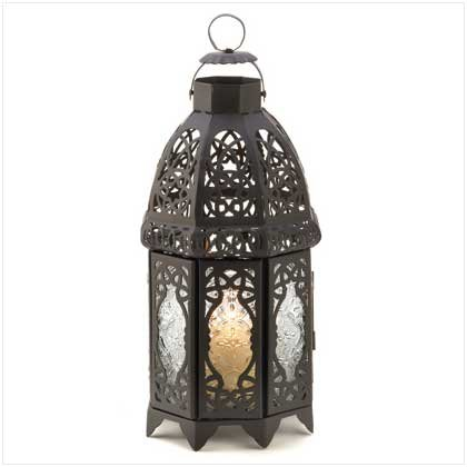 Black Lattice Lantern Candle Holder Home Wedding Decor