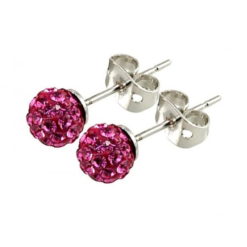 Tresor Paris 'Proussy' Pink Crystal Earrings