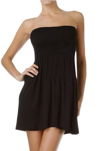 ToBeInStyle Women's Summer Tube Top Mini Dress