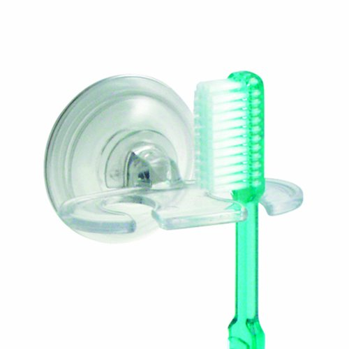 Interdesign power lock suction toothbrush holder for for Inter designs