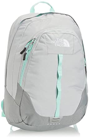 The North Face Women's Vault Backpack - High Rise Grey/Beach Glass Green, One Size