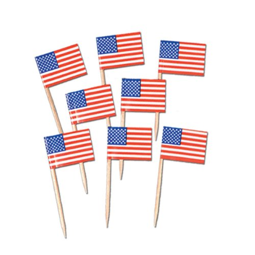 Pkgd U S Flag Picks   (50/Pkg) - 1
