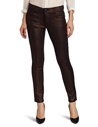 Democracy Women's Coated Ponte Justice Jegging, Copper, 4