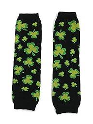 Rush Dance Feast of Saint St Patrick\'s Day Baby/ Toddler Leg Warmers Clover Shamrck