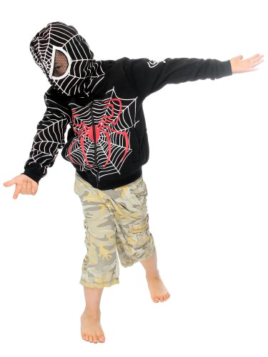 Venom Black Full Face Spider-Man Costume ZipUp Hoodie for Children