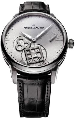 Maurice Lacroix Masterpiece Roue Carree Seconde Mens Silver Dial Watch MP7158-SS001-901