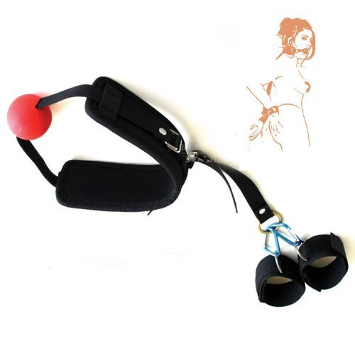 41lHLi2S FL. SL500  BEST CASE New Sex Toy Stimulating Bondage Mouth Gag Ball with Wrist Cuffs Sm Toy for Couple