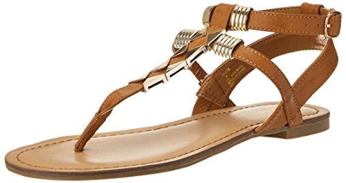 Madden Girl Women's Faaye Dress Sandal,Cognac,8 M US