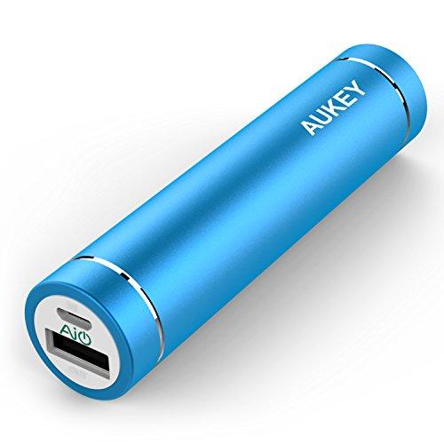 (オーキー)Aukey AIPower 超小型3000mAhモバイルバッテリー スマホ充電器 iPhone/Androidスマートフォンを充電可能 (ブルー)PB-N23