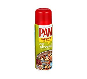 PAM 100% Natural Olive Oil Cooking Spray 5 oz (Pack of 12)