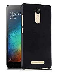 WOW Imagine SWHXMIRN3/BLK Rubberised Matte Hard Case Back Cover For XIAOMI MI REDMI NOTE 3 (Pitch Black)