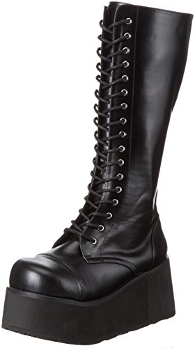 DemoniaDemonia Trashville-502 - Stivali a metà polpaccio con imbottitura leggera Uomo , Nero (Schwarz (Schwarz (Blk Vegan Leather))), 39