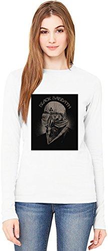 Black Sabbath Mask T-Shirt da Donna a Maniche Lunghe Long-Sleeve T-shirt For Women| 100% Premium Cotton Ultimate Comfort Small