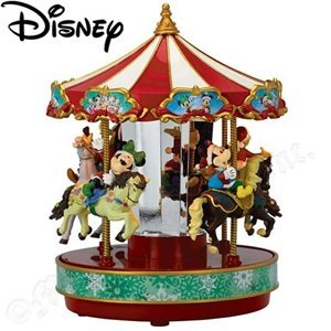 Gold Label Mr. Christmas Disney Elements Disney Carousel with Mickey and Friends