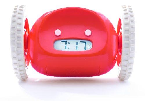 Nanda Home N1581 Clocky Moving Alarm Clock (Red)