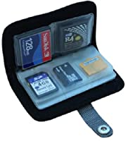 Memory Card Carrying Case - Black / Wallet / Holder / Organizer / Bag - Storage for SD SDHC CF xD Camera Memory Cards from Everything But Stromboli